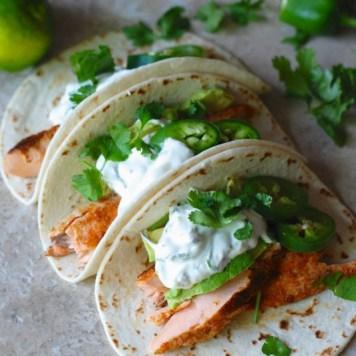 Tacos saumon et piment