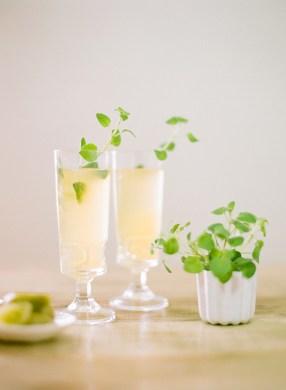 oregano-sprig-signature-cocktail-champagne idees recettes noel