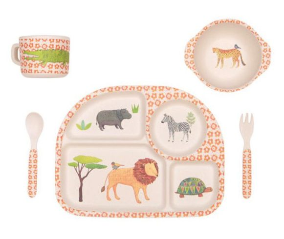 tendance jungle kids set diner bambou lovemae