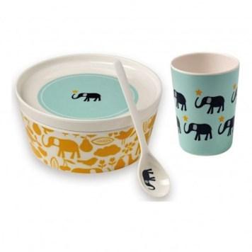 Vaisselle enfant - éléphant // Hëllø Blogzine - www.hello-hello.fr