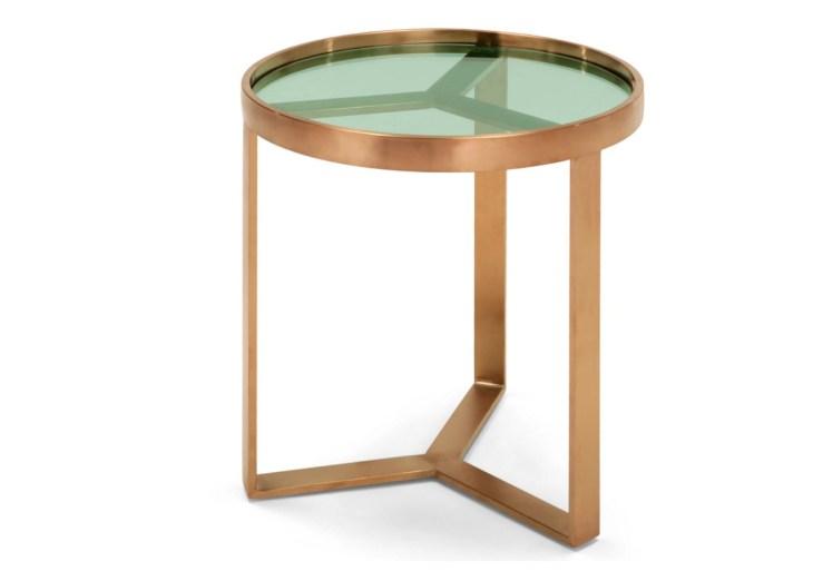 Table en cuivre brossé et verre // Hëllø Blogzine blog deco & lifestyle www.hello-hello.fr