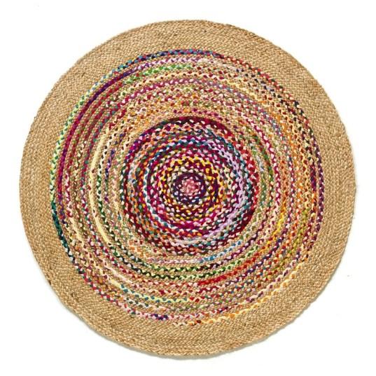 tapis de jute multicolore // Hëllø Blogzine blog deco & lifestyle www.hello-hello.fr