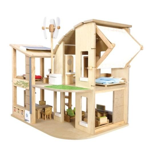 des maisons de poup e en bois design et oiginales. Black Bedroom Furniture Sets. Home Design Ideas
