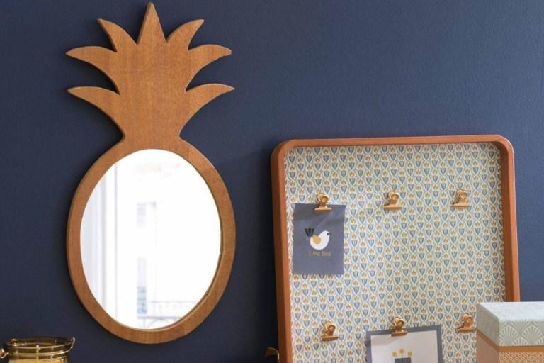 Miroir ananas en bois tendance tropicale // Hëllø Blogzine blog deco & lifestyle www.hello-hello.fr