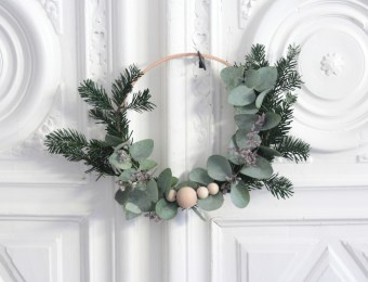 Couronne de Noël Végétale DIY // Hëllø Blogzine blog deco & lifestyle www.hello-hello.fr #couronne #noel #christmas #diy
