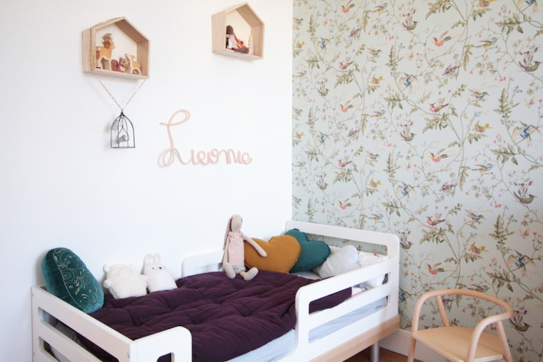 Chambre Fille Vintage Retro Romantique Rose Vert Menthe
