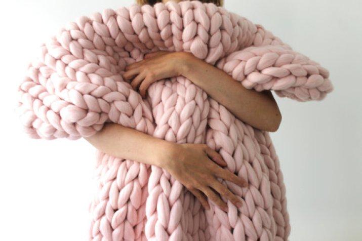 O trouver un plaid en laine avec des grosses mailles - Couverture tricot grosse maille ...