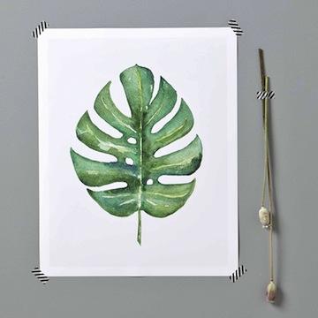 Affiche Tropicale //Hëllø Blogzine blog deco & lifestyle www.hello-hello.fr #tropicool #tropical #vegetal