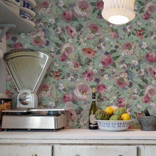 Tendance papier peint floral // Hëllø Blogzine blog deco & lifestyle www.hello-hello.fr #papierpeint #wallpaper #fleur