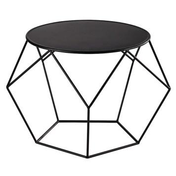 table-basse-ronde-en-metal-noire-prism