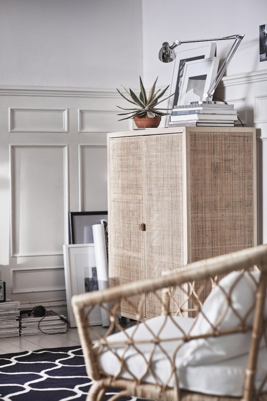 Buffet cannage rotin Ikea // Hëllø Blogzine blog deco & lifestyle #rattan #rotin