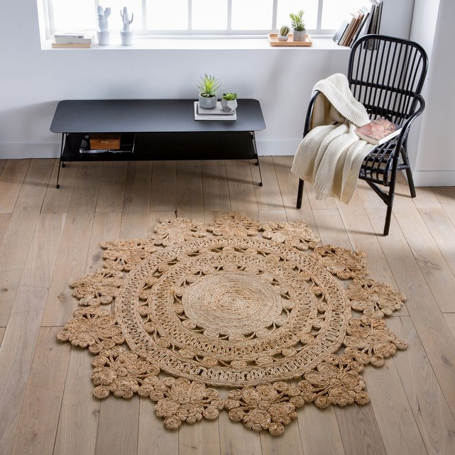 great tapis en jute rond en forme rosace la redoute intrieurs with tapis la redoute. Black Bedroom Furniture Sets. Home Design Ideas