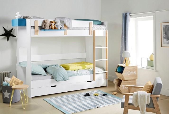 Lits superposés avec tiroirs gain de place // Hëllø Blogzine blog deco & lifestyle www.hello-hello.fr