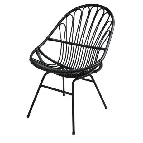 fauteuil en rotin noir maisons du monde hll blogzine blog deco lifestyle www