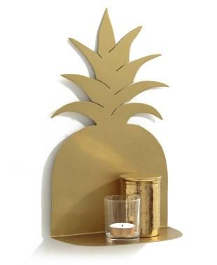 Etagère ananas gold. Collection déco printemps / été 2018 La Redoute Intérieurs // Hëllø Blogzine blog deco & lifestyle www.hello-hello.fr