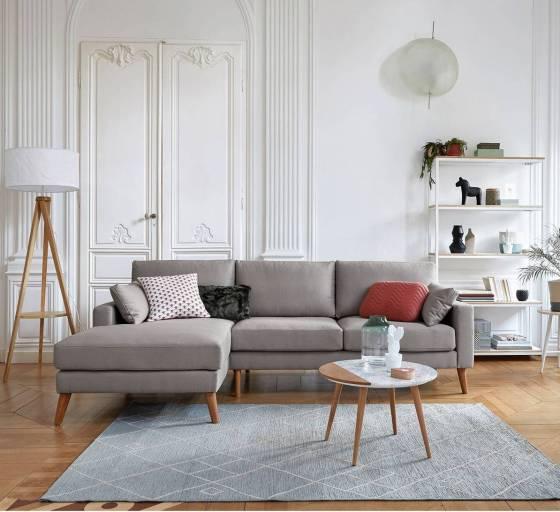 Table basse en marbre et bois. Collection déco printemps / été 2018 La Redoute Intérieurs // Hëllø Blogzine blog deco & lifestyle www.hello-hello.fr