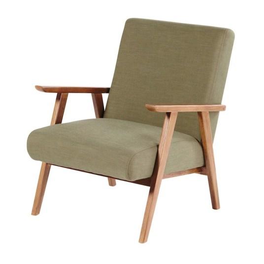 fauteuil-vintage-vert-kaki