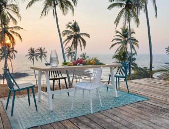 Table et chaises de jardin scandinave // Hëllø Blogzine blog deco & lifestyle www.hello-hello.fr