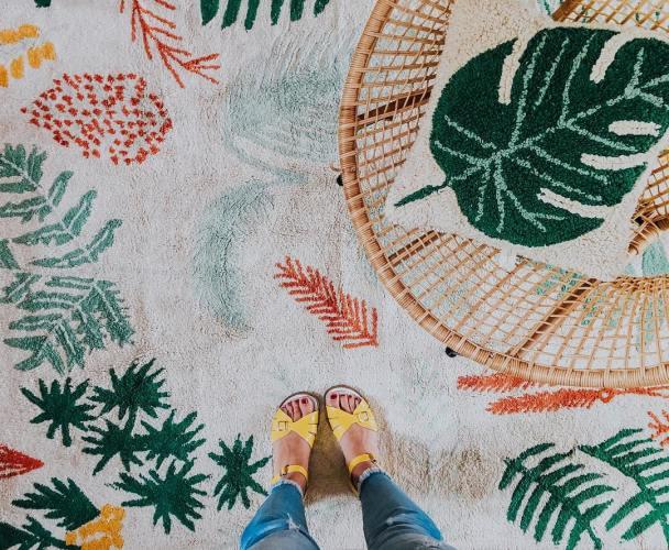La maison de Céline du Blog Au détour d'un chemin qui a créé un intérieur rétro et bohème // Hëllø Blogzine blog deco & lifestyle www.hello-hello.fr