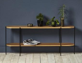 Console minimaliste en chene et metal Cyrillus // Hellø Blogzine, blog déco lifestyle - www.hello-hello.fr