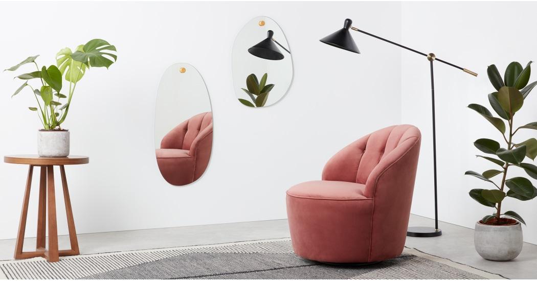 Miroirs forme aléatoire // Hellø Blogzine blog deco & lifestyle www.hello-hello.fr