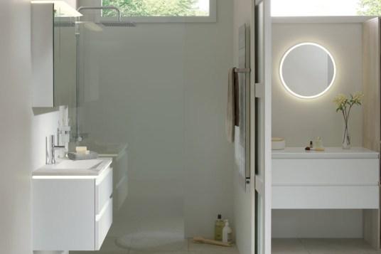 la gamme illusion de sanijura des meubles de salle de bain modulables. Black Bedroom Furniture Sets. Home Design Ideas