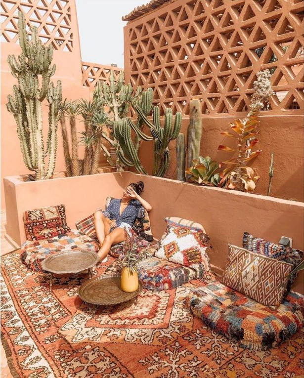 Shopping déco inspiration riad à Marrakech - Get the look : boho Moroccan home decor ideas // Hellø Blogzine blog deco & lifestyle www.hello-hello.fr
