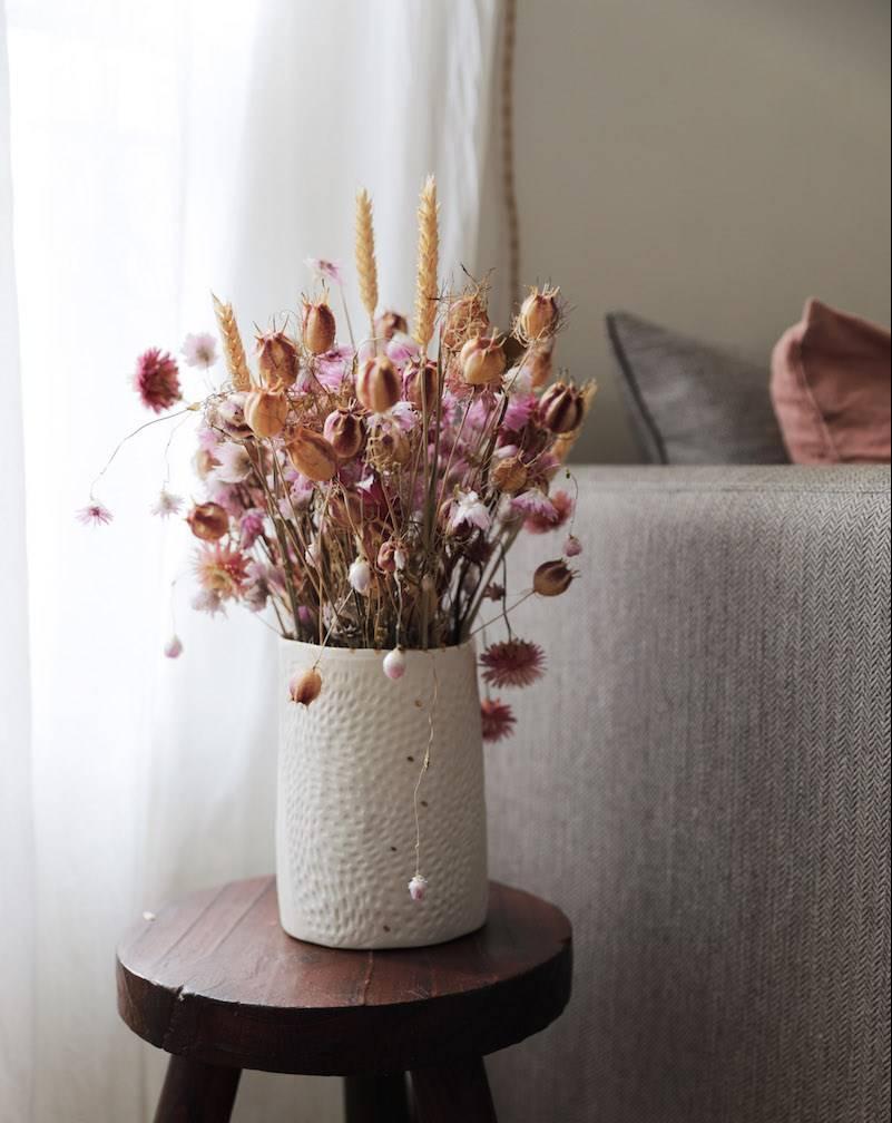 Séché Pivoine et séchés Statice main attachée Bouquet