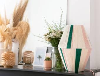 DIY abat jour en laine // Hëllø Blogzine blog deco & lifestyle www.hello-hello.fr