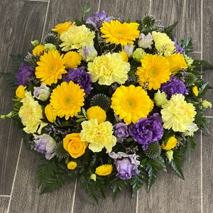 Gold and Purple Posy Pad