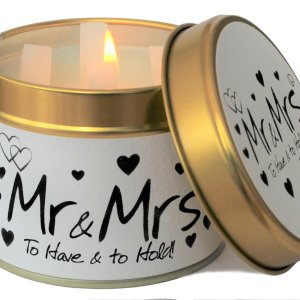 Mr and Mrs Candle Hello Petal