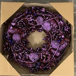 Hello Petal Florist Purple Wreath
