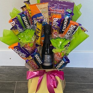 Chocolate Bouquet with 20cl prosecco Hello Petal Florist Glasgow