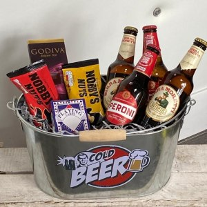 Hello Petal Father's Day Mixed Lager Gift Bucket