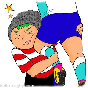h300-する 怪我 頭部打撲 ミニラグビー