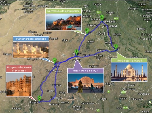 Itineraire Rajasthan