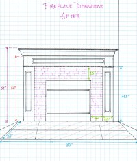 Fireplace Dimensions  After | hello aerie