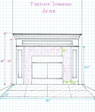 Fireplace Dimensions - After