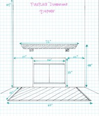 Fireplace Dimensions  Before | hello aerie