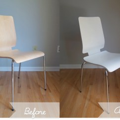 Ikea Dining Chair Portable Folding Chairs A Fresh Coat Of Paint For Hello Aerie Before And After