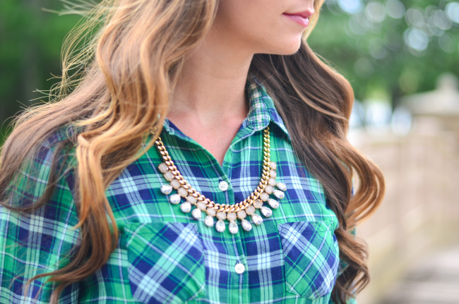 Flannel Shirt Dress-11