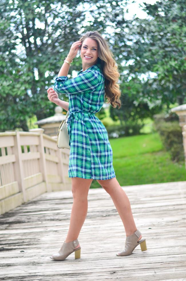 Flannel Shirt Dress-13