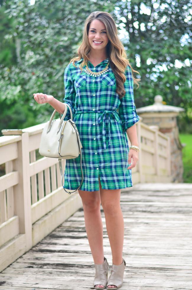 Flannel Shirt Dress-14