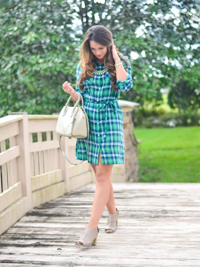 Flannel Shirt Dress-7
