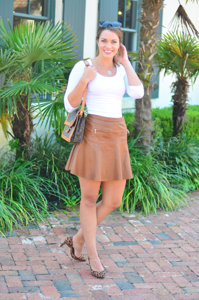 Joie Leather Skirt-4