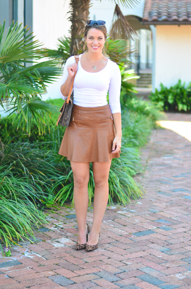 Joie Leather Skirt-6