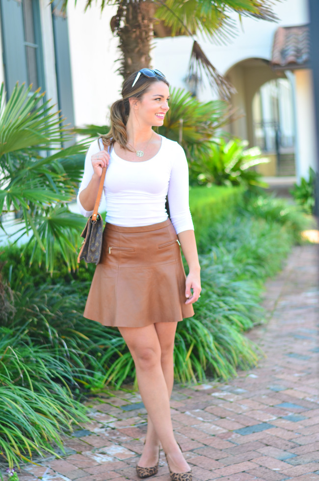 Joie Leather Skirt-7