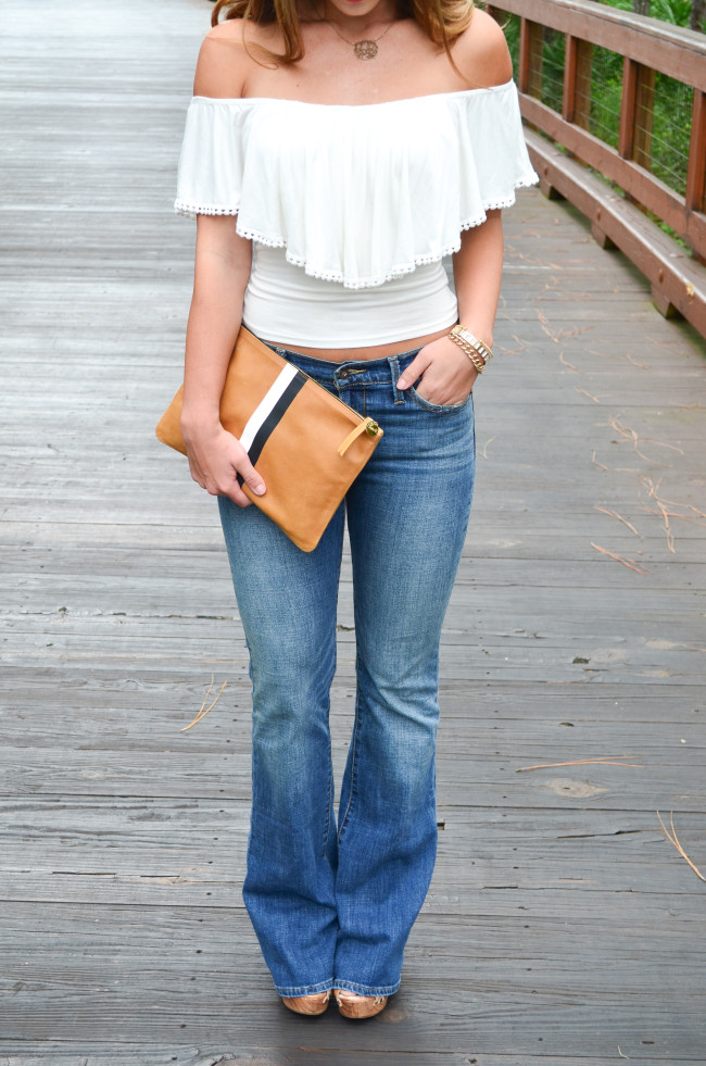 white flare shirt- flare jeans-8