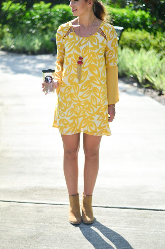 yellow game day dress-11