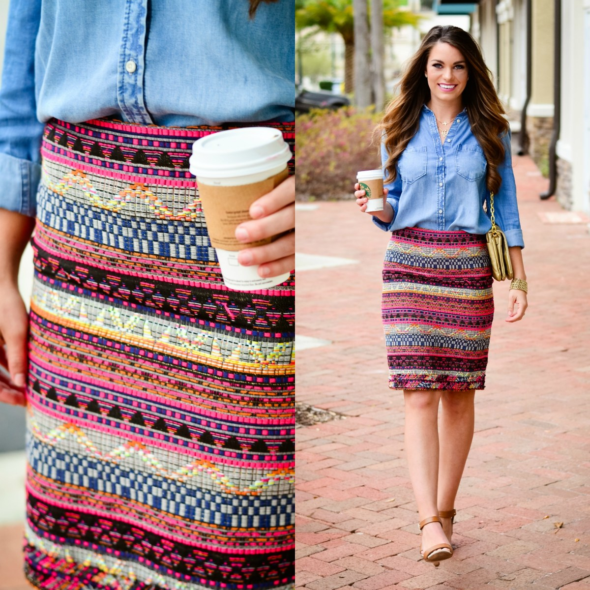 Trina Turk Skirt collage